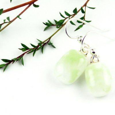 Green Earrings I