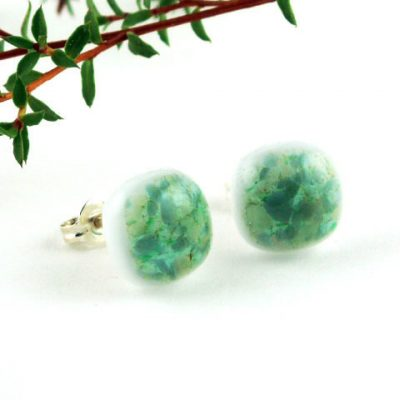 Green Crush Post Earrings