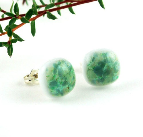 Green Crush Post Earrings