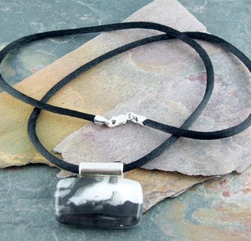 Black Satin Cord, 18″