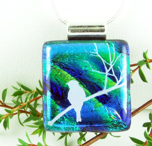 Dichroic White Bird