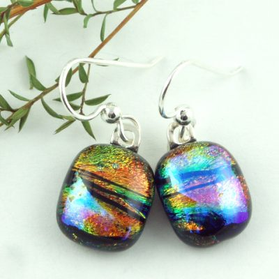 Dichroic Earrings, Large