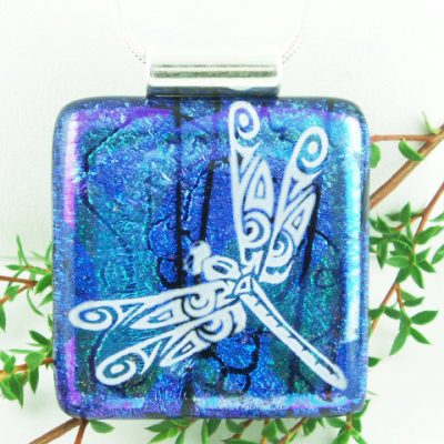 Blue Dichroic Dragonfly, Large