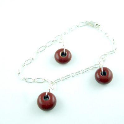 Charm Bracelet, Dk. Red