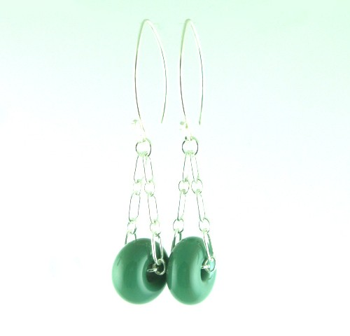 Charm Earrings, Jade