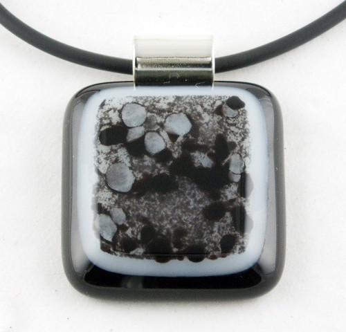 Black and White Crush Pendant