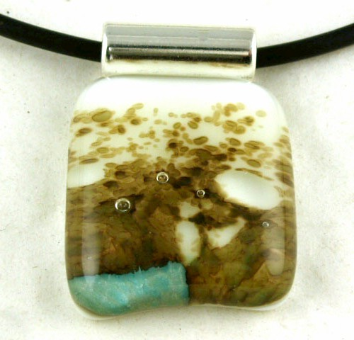 Abalone Abstract Pendant