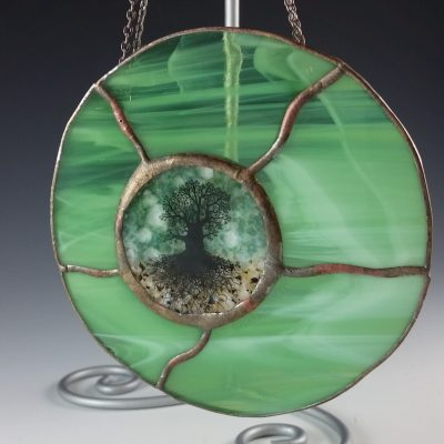 Round Mini Window - Green