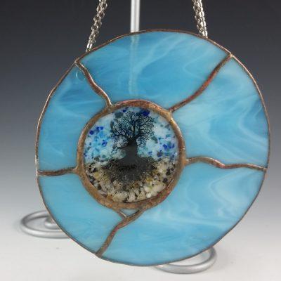 Round Mini Window - Blue
