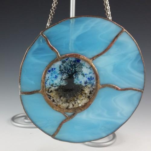 Round Mini Window – Blue