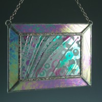 Dragonfly Stained Glass Mini Window, MediumDragonfly Stained Glass Mini Window, Medium