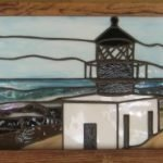 Custom Stained Glass Lighthouse created by Michelle Copeland at ThistleGlass.com