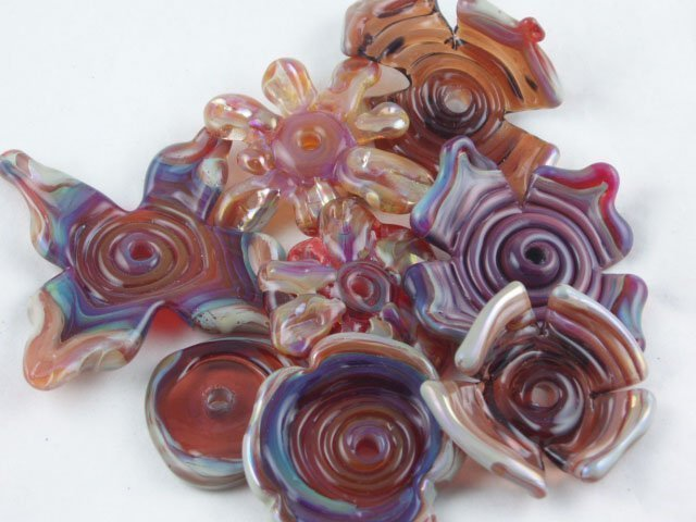 Lampwork Flowers by Michelle Copeland at ThistleGlass.com