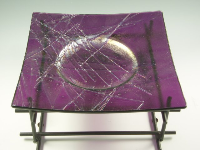 Fused Glass Tray - Designed by Michelle Copeland at ThistleGlass.com