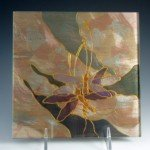 Wall Tile, hand-painted clear glass
