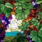 Grape Sunset Window, 4 foot installation