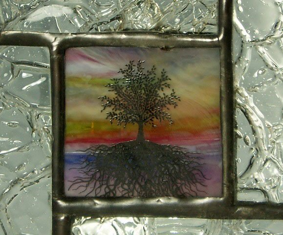Stained Glass Mini Window - Designed by Artist Michelle Copeland