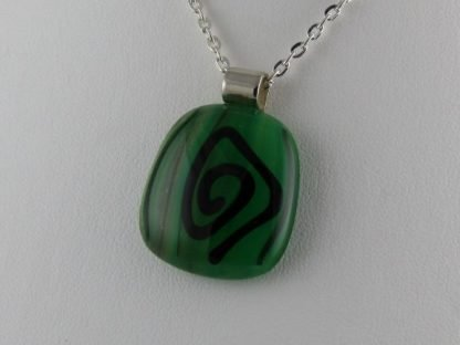 Sketch Blown Fusion, fused glass necklace designed by Michelle Copeland at ThistleGlass.com