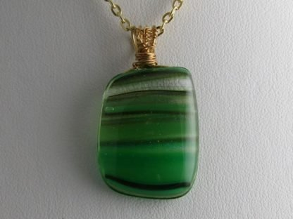 Sketch - Gold Wire, fused glass necklace designed by Michelle Copeland at ThistleGlass.com