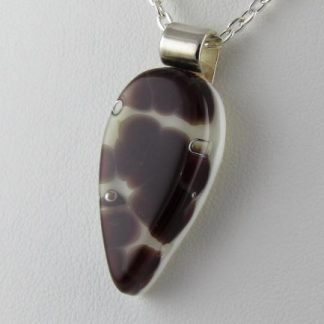 Cells Drop - fused glass necklace designed by Michelle Copeland at ThistleGlass.com