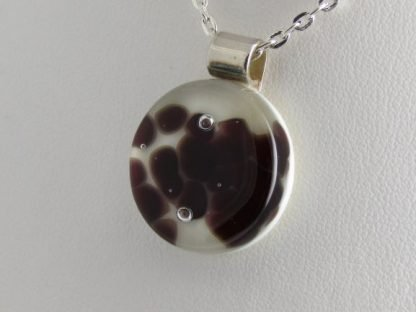 Cells III, fused glass necklace designed by Michelle Copeland at ThistleGlass.com