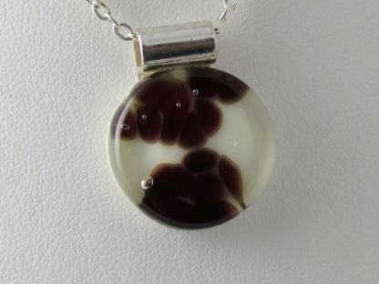 Cells I - fused glass necklace designed by Michelle Copeland at ThistleGlass.com