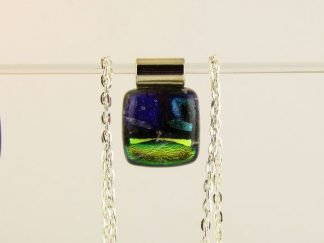Dichroic Fused Glass Jewelry Designed by Artist Michelle Copeland at ThistleGlass.com