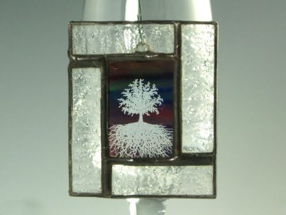 Stained Glass Mini Window by Artist Michelle Copeland at ThistleGlass.com