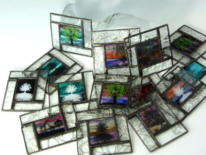Stained Glass Mini Windows by Artist Michelle Copeland at ThistleGlass.com