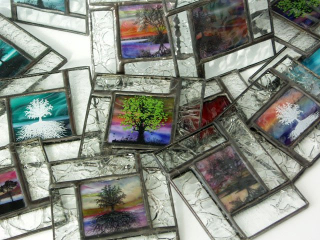 Stained Glass Mini Windows - Designed by Artist Michelle Copeland