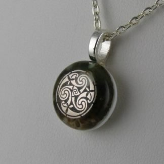 Celtic Round, fused glass necklace designed by Michelle Copeland at ThistleGlass.com
