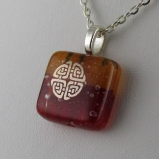 Celtic, fused glass necklace designed by Michelle Copeland at ThistleGlass.com