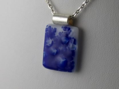 Cobalt Blue, fused glass necklace designed by Michelle Copeland at ThistleGlass.com