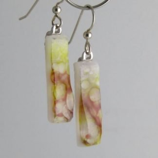 Pastel Crush Earrings, Fused Glass by Michelle Copeland at www.ThistleGlass.com