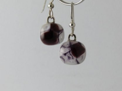 Purple Crush Earrings, Fused Glass by Michelle Copeland at www.ThistleGlass.com