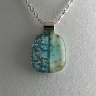 Abalone Pendant I, Fused Glass Necklace Designed by Michelle Copeland at ThistleGlass.com