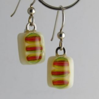 Bloom Earrings, Glass Jewelry by Michelle Copeland at www.ThistleGlass.com