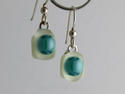 Bloom Turquoise Earrings, Glass Jewelry by Michelle Copeland at www.ThistleGlass.com