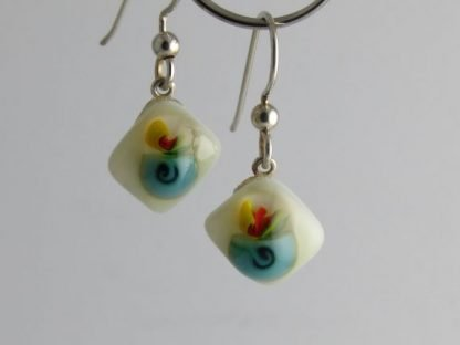 Bloom Spiral Earrings, Glass Jewelry by Michelle Copeland at www.ThistleGlass.com