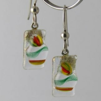 Bloom Twist Earrings, Glass Jewelry by Michelle Copeland at www.ThistleGlass.com