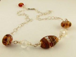 Lampwork Glass Jewelry by Artist Michelle Copeland at www.ThistleGlass.com