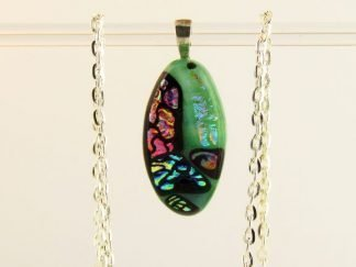 Dichroic Fused Glass Jewelry by Artist Michelle Copeland at ThistleGlass.com