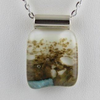 Fused Glass Abalone Necklace Designed by Michelle Copeland at ThistleGlass.com