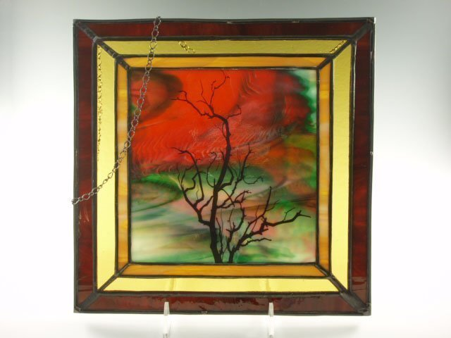 Stained Glass Sunset Tree, Designed by Artist Michelle Copeland