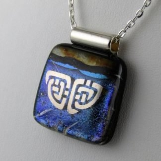 Celtic Playhouse, Dichroic Fused Glass Jewelry Designed by Artist Michelle Copeland at ThistleGlass.com
