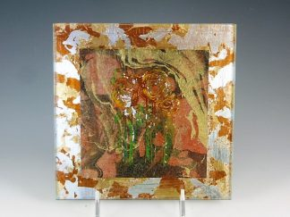 Verre Eglomise Glass Wall Tile - Designed by Artist Michelle Copeland at ThistleGlass.com