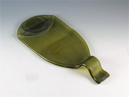 Recycled Wine Bottle Tray Created by Artist Michelle Copeland at ThistleGlass.com