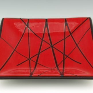 Fused Glass Tray - Designed by Artist Michelle Copeland at ThistleGlass.com