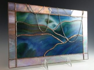 Stained Glass Panel Window designed by Michelle Copeland of www.ThistleGlass.com