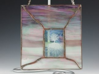 Tree of Life Stained Glass Mini Window - by Artist Michelle Copeland at ThistleGlass.com
